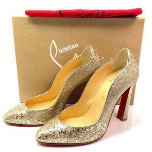 Christian Louboutin Agneska 100 Glitter Heels 38